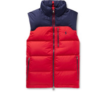 Colour-Block Quilted Padded Shell Gilet