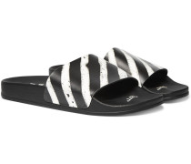 Printed Rubber Slides - Black