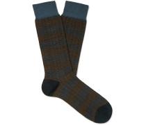 Theed Merino Wool-Blend Jacquard Socks