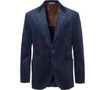 Royal-Blue Cotton-Corduroy Blazer