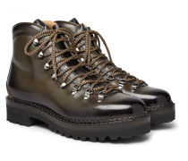 Fidel Leather Boots - Green