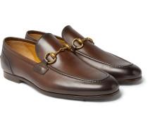 Jordaan Horsebit Burnished-leather Loafers - Dark brown