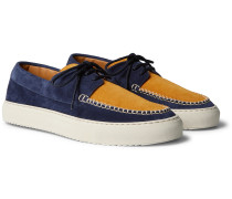 Dennis Two-Tone Suede Boat Shoes