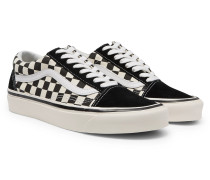 Anaheim Factory Old Skool 36 Dx Leather-trimmed Checkerboard Canvas And Suede Sneakers - Black