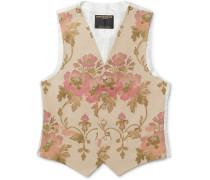 Belvoir Cotton, Wool and Silk-Blend Jacquard Waistcoat