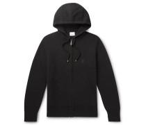 Cashmere-Blend Zip-Up Hoodie