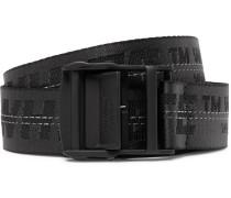 3.5cm Black Industrial Canvas Belt