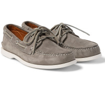 Downeast Nubuck Boat Shoes - Gray