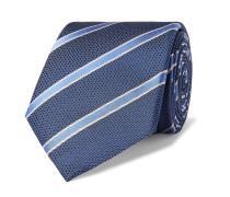 8cm Striped Silk Tie