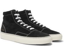 Cap-toe Suede High-top Sneakers