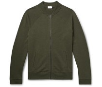 Loopback Pima Cotton and Alpaca-Blend Bomber Jacket