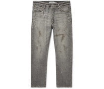 Dweller Distressed Selvedge Denim Jeans