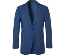 Slim-Fit Cotton-Blend Seersucker Blazer