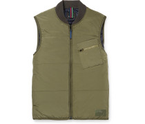 Quilted Shell Gilet - Green