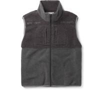 Colour-block Fleece Gilet - Gray