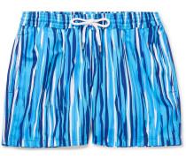 Açu Slim-fit Short-length Printed Swim Shorts - Blue