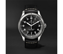 Navitimer 8 Automatic 41mm Steel And Leather Watch