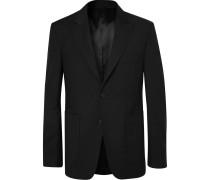 Black Lloyd Wool And Mohair-blend Suit Jacket - Black