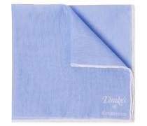 + Drake's Linen And Cotton-blend Pocket Square - Light blue
