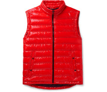 Quilted Glossed-Shell Gilet