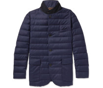 Roadster Rain System Wool And Silk-blend Down Jacket