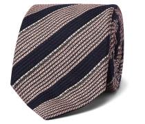 8cm Striped Linen and Silk-Blend Tie