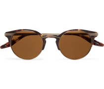 Roux Round-frame Tortoiseshell Acetate And Gold-tone Titanium Sunglasses