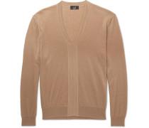 Cashmere, Merino Wool And Silk-blend Sweater