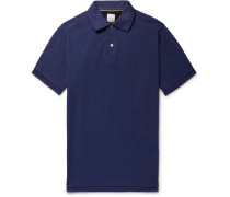 Slim-fit Grosgrain-trimmed Cotton-piqué Polo Shirt