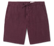 Copenhagen Slim-Fit Tapered Garment-Dyed Linen Drawstring Shorts