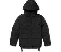 Black Label Maitland Shell Hooded Down Parka - Black