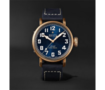 Pilot Type 20 Extra Special Automatic 40mm Bronze And Nubuck Watch - Blue