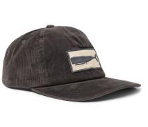 Appliquéd Corduroy Baseball Cap - Charcoal