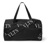 Valentino Garavani Logo-Webbing and Leather-Trimmed Nylon Holdhall