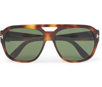 Bachardy Aviator-style Tortoiseshell Acetate Sunglasses