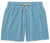 Beacon Long-length Printed Swim Shorts