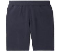 Loopback Cotton-jersey Shorts - Navy