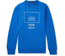 Printed Loopback Cotton-jersey Sweatshirt - Blue