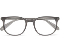 Bentley 51 Square-frame Matte-acetate Optical Glasses - Gray