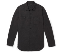 Cotton-flannel Shirt - Gray