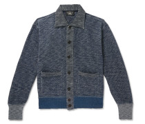 Mélange Cotton Cardigan - Blue