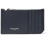 Pebble-grain Leather Zipped Cardholder