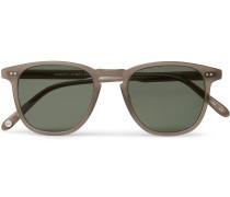 Brooks 47 D-frame Matte Acetate Sunglasses - Brown