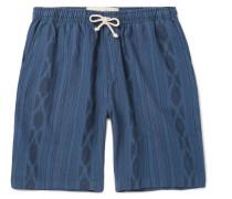 Ikat-print Cotton Drawstring Shorts