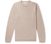 Mélange Wool Sweater - Beige
