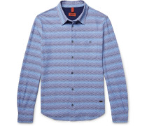 Slim-fit Patterned Cotton Shirt