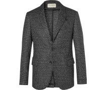 Grey Prince Of Wales Checked Wool Blazer
