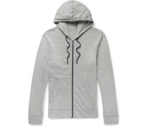 Mélange Loopback Supima Cotton-jersey Zip-up Hoodie - Gray
