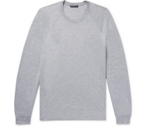 Mélange Cotton And Cashmere-blend Sweater