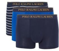 Three-pack Stretch-cotton Jersey Boxer Briefs - Navy
